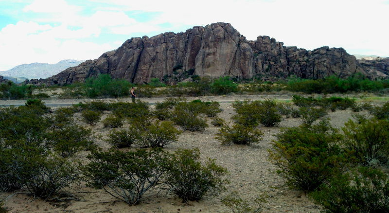 View of Hueco Tanks from the new Blue Lizard Climbing and Yoga site!